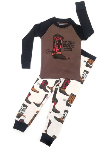 If The Boot Fits Boy Toddler PJ Set
