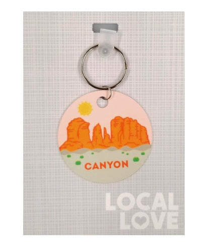 Canyon City Scene Keychain
