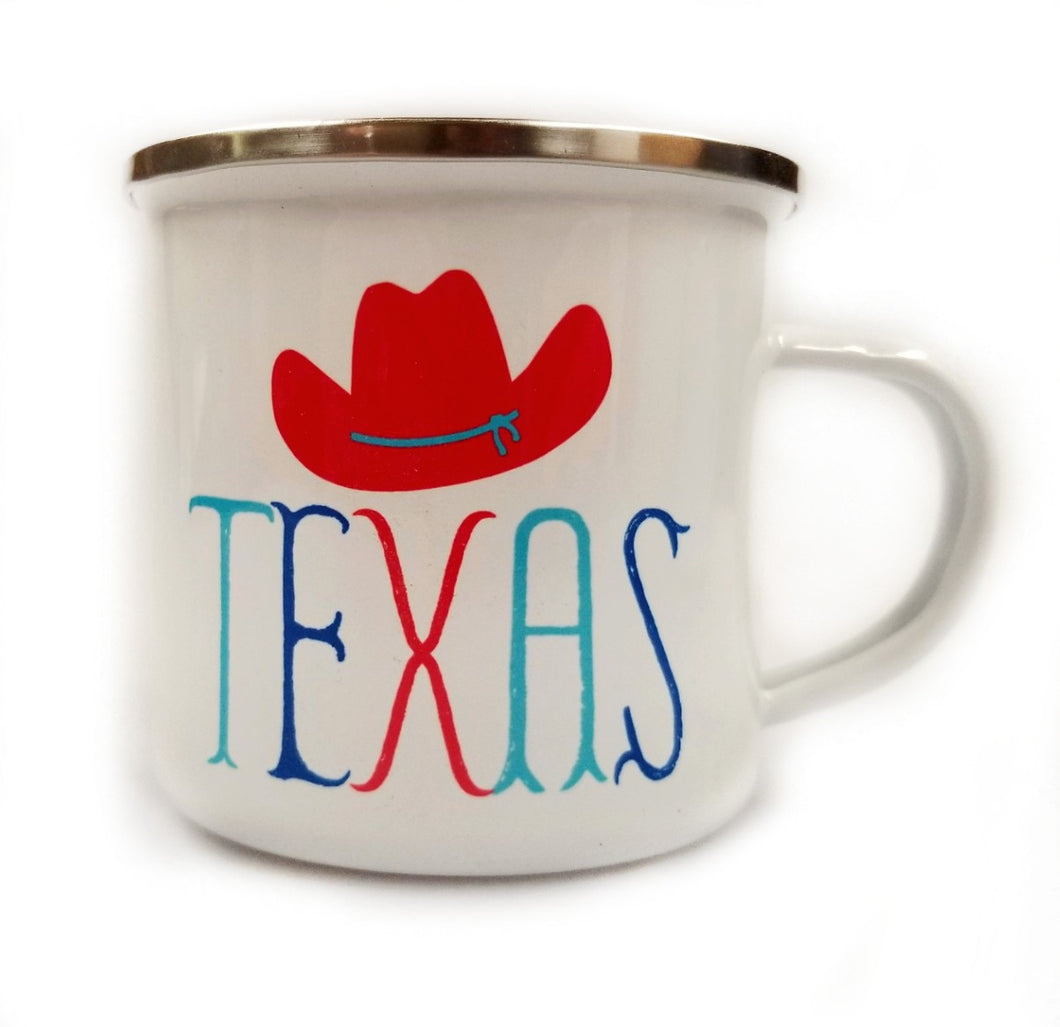 Texas Cowboy Hat Camp Mug
