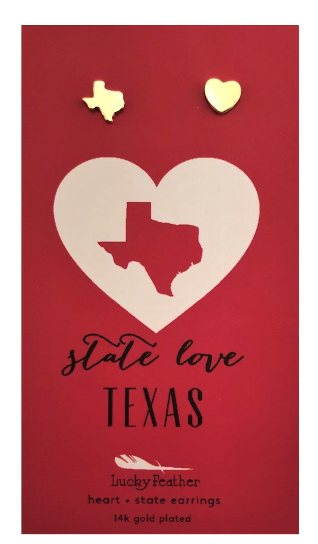 Texas State Love Stud Earrings