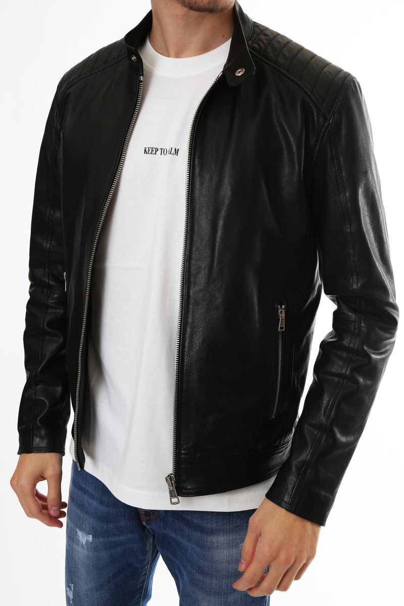 Gold Rush Uomo Giubbotto Vera Pelle Leather Jacket