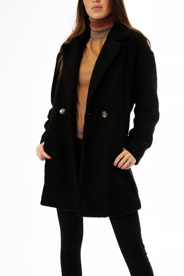 Only Donna Cappotto Oversized Nina Black