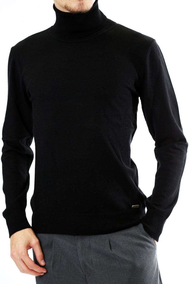 Gold Rush Uomo Maglia Pullover Amos Collo Alto High Neck Black