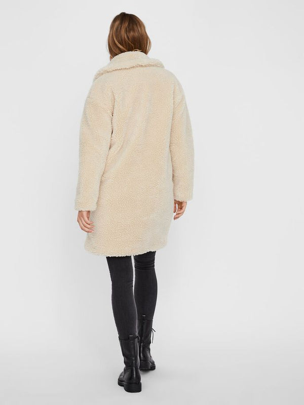 Vero Moda Donna Cappotto Teddy Coat Lynne Cream