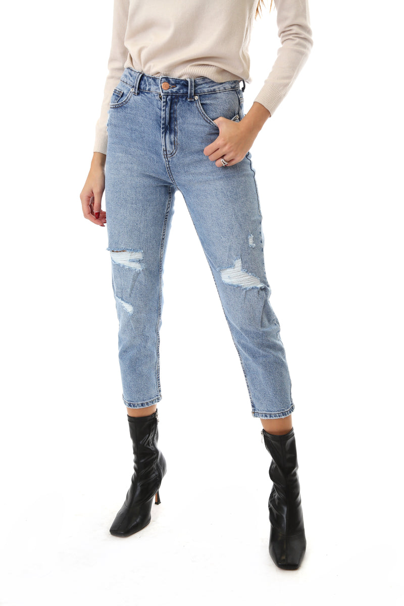 Only Donna Jeans Denim Emily Life Strappi Light Wash