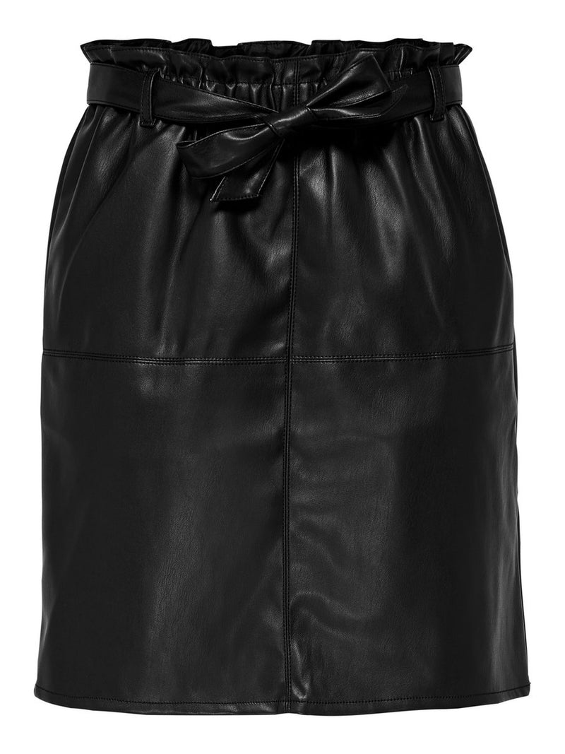 Only Donna Gonna Mini Skirt Eco Pelle Faux Leather