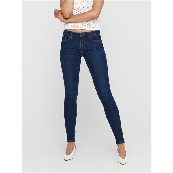 Only Donna Skinny Jeans Denim Regular Life Push Up Dark Wash Daisy
