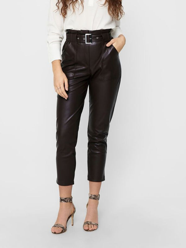 Only Donna Pantalone Briony Faux Leather Eco Pelle