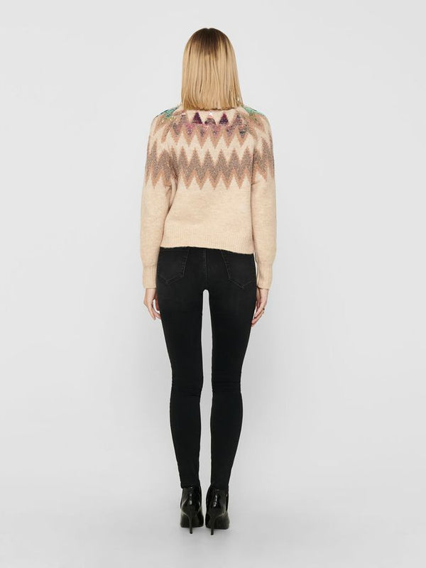Only Donna Maglia Sweater Manica Lunga Girocollo Morbido Mary Ethnos