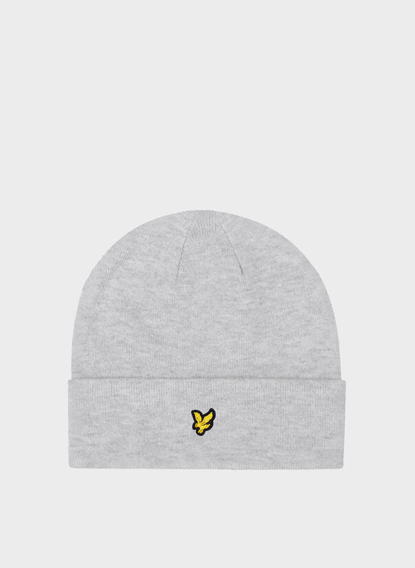 Lyle & Scott Cappello Beanie Lana Patch Grey