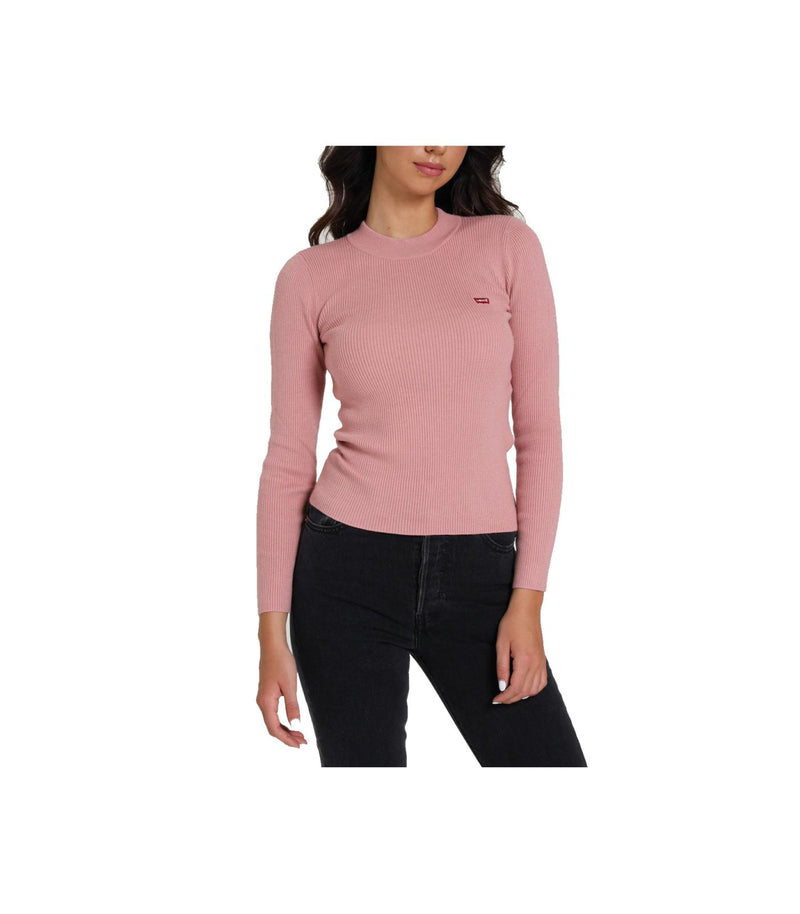 Levi's Donna Felpa Manica Lunga Pullover Logo Laterale Pink