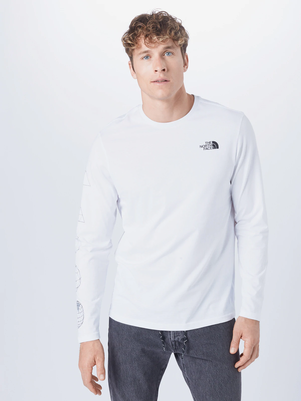 The North Face Uomo T-Shirt Manica Lunga Polo Geotrude White