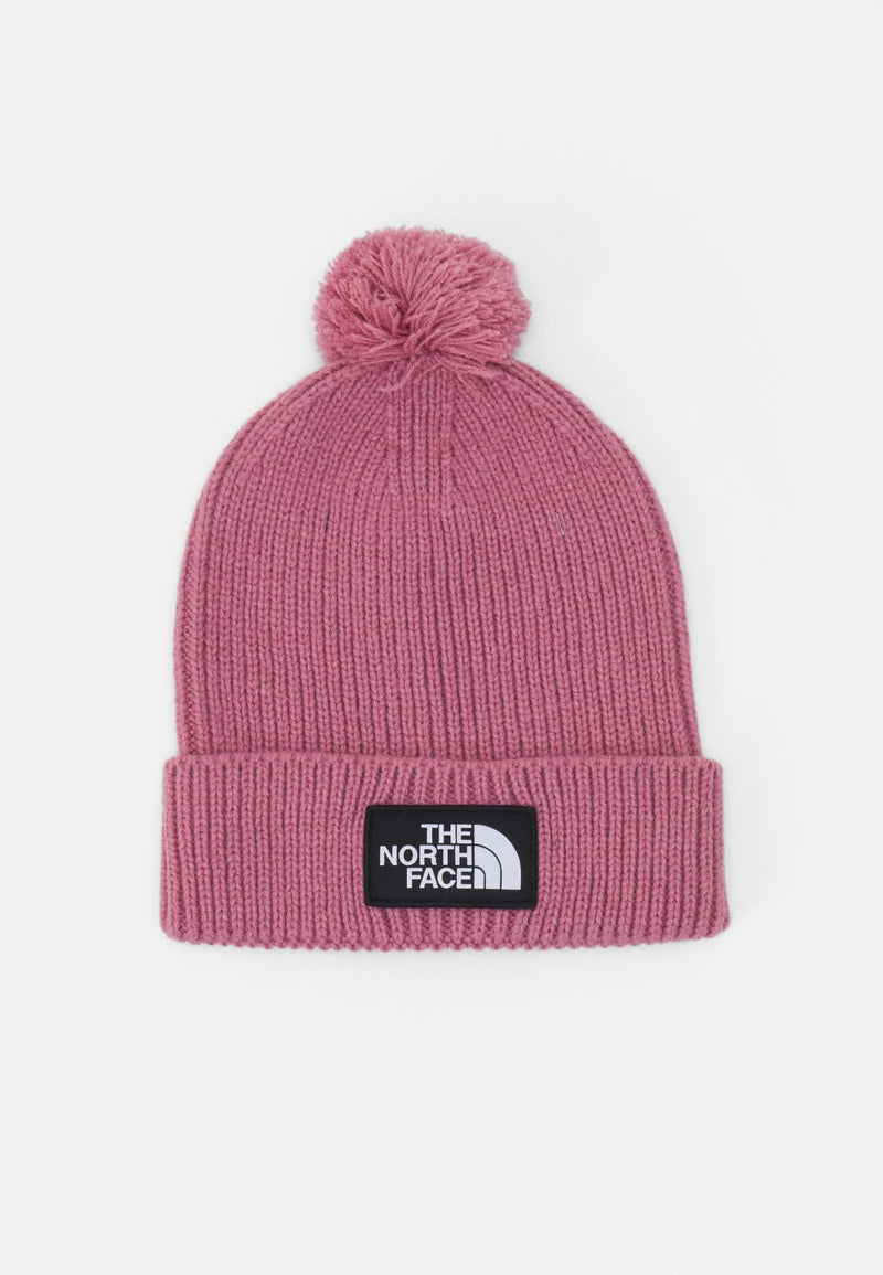 The North Face Cappello Beanie Lana Con Logo Stampato Pink