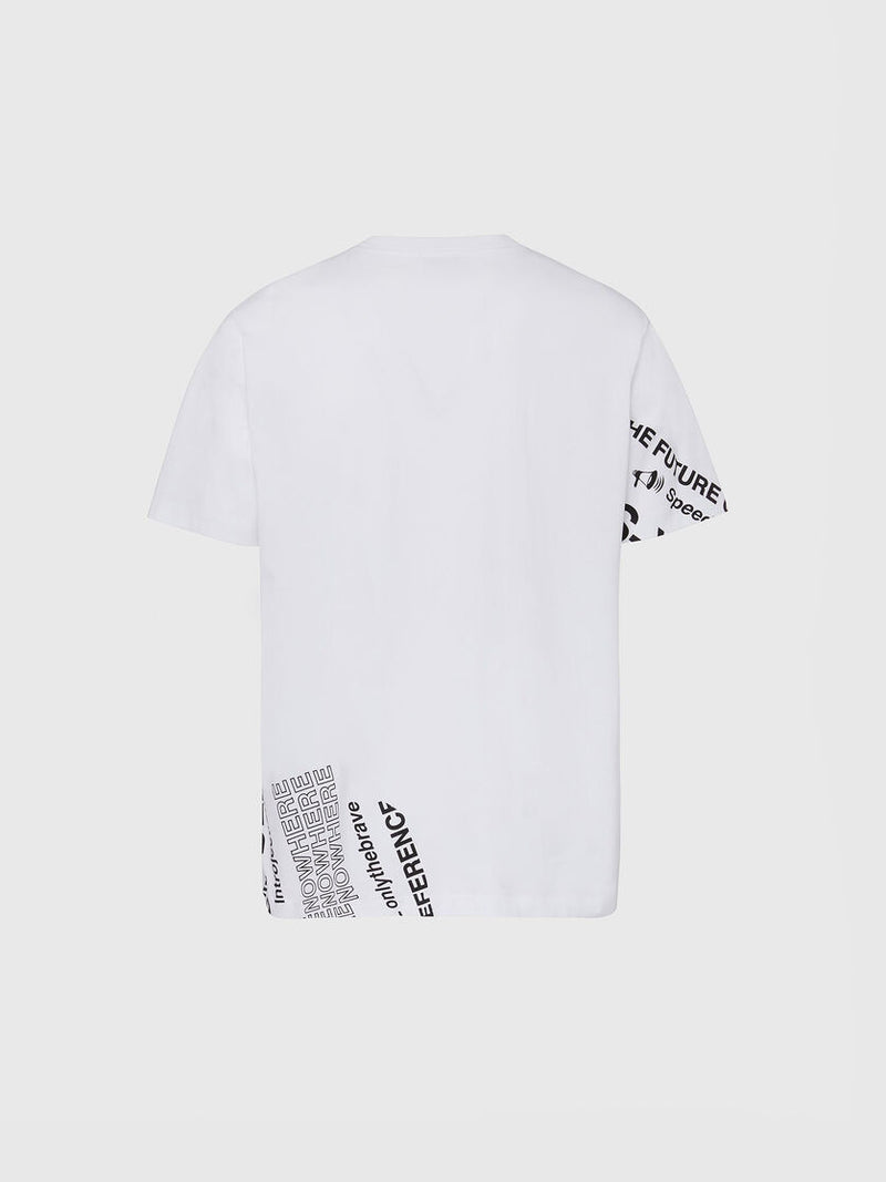 Diesel Uomo T-Shirt Just Folded Manica Corta Logo White
