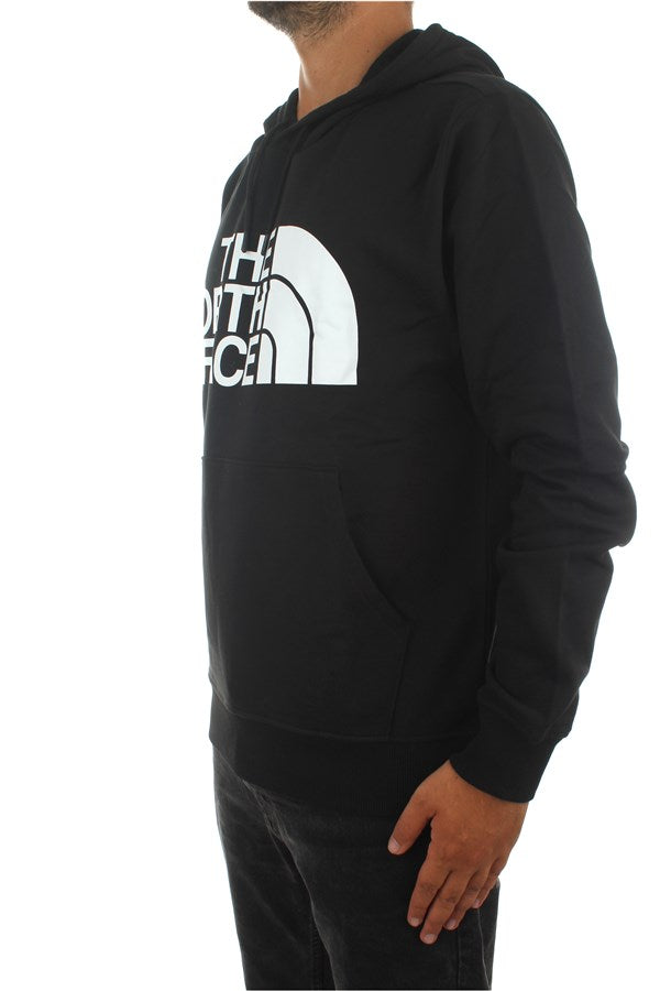 The North Face Uomo Felpa Manica Lunga Con Cappuccio Sweatshirt Logo Black