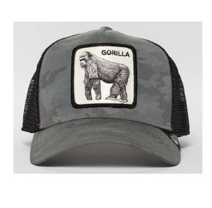 Goorin Bros Uomo Limited Edition Leather Cappello Instinct Only Gorilla