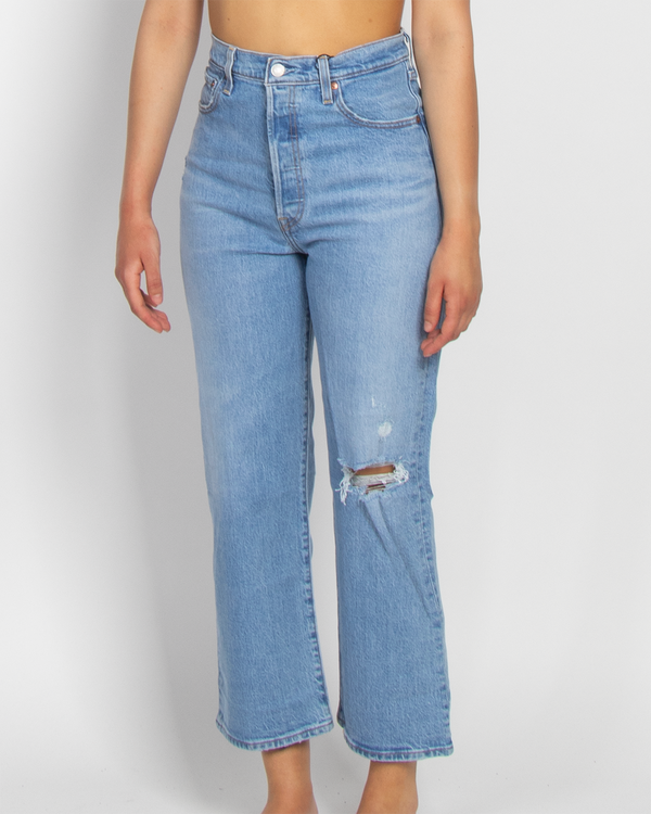 LEVI'S JEANS DONNA RIBCAGE STRAIGHT ANKLE TANGO FADE