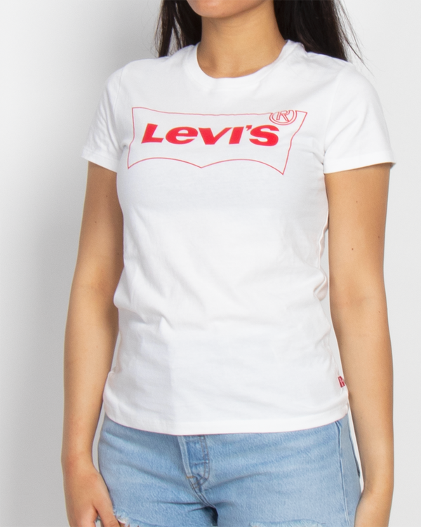 LEVI'S DONNA T-SHIRT THE PERFECT TEE BW OUTLINE T2