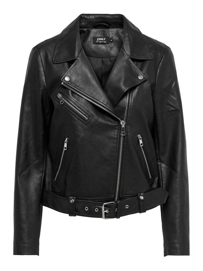 Only Donna Giubbotto Chiodo Eco Pelle Faux Leather Biker Jacket