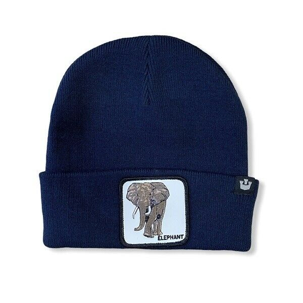 Goorin Bros Cappello Lana Beanie Keep On Trunkin' Navy