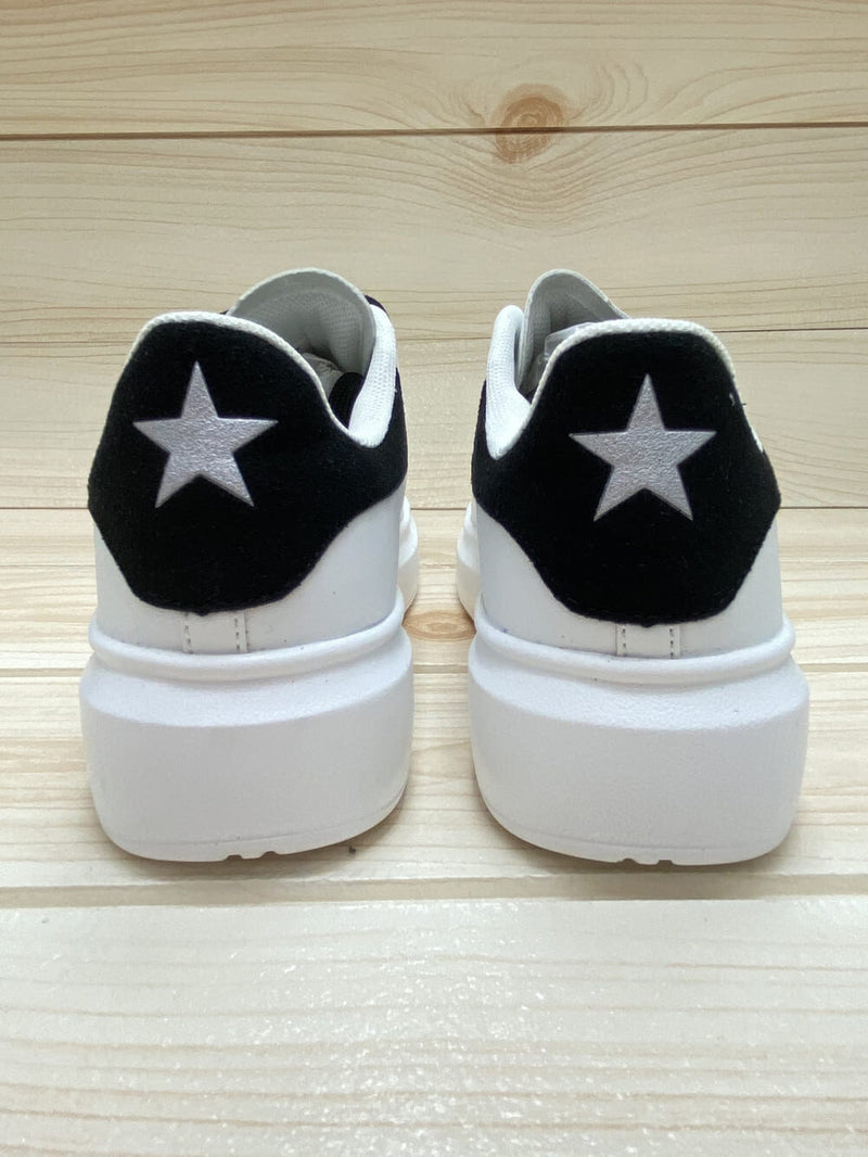 Shop Art Scarpa Donna Sneaker in Eco Leather Suede Star White