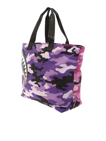 Sprayground Borsa Tote Shopper Bag Split Camo Beach