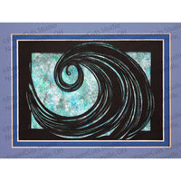 Ocean Cut Paper Art, Matted