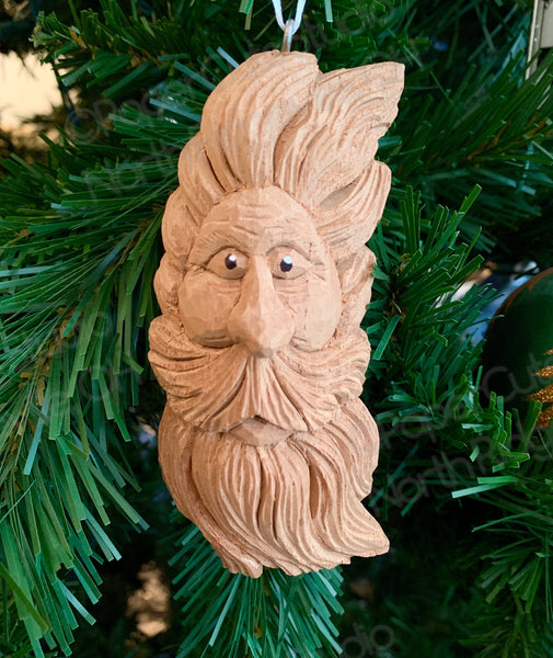 Windblown Spirit, Carved Wood Ornament