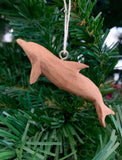 Dolphin, Carved Wood Ornament