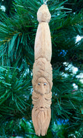 Pen Blank Santa, Carved Wood Ornament