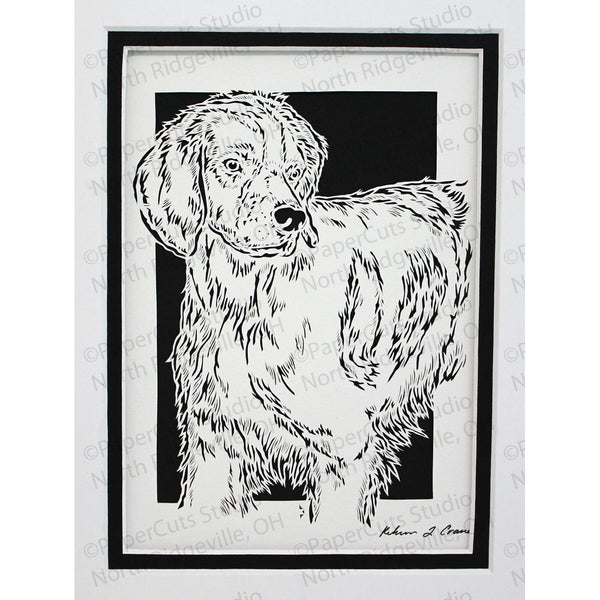 Brittany Cut Paper Art, Matted