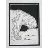Bear Cut Paper Art, Matted