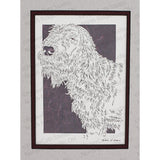 Spinone Italiano Cut Paper Art, Matted