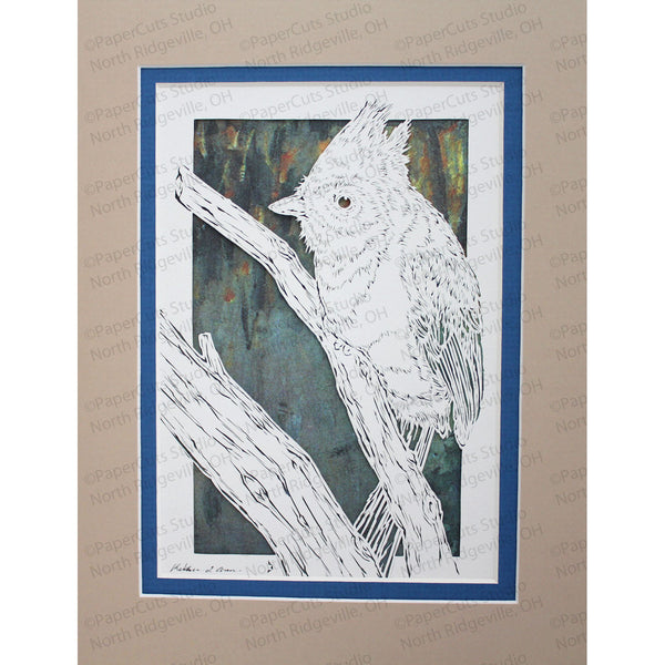 Songbird Cut Paper Art, Matted