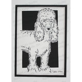 Poodle Cut Paper Art, Matted