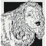 Sussex Spaniel Cut Paper Art, Matted