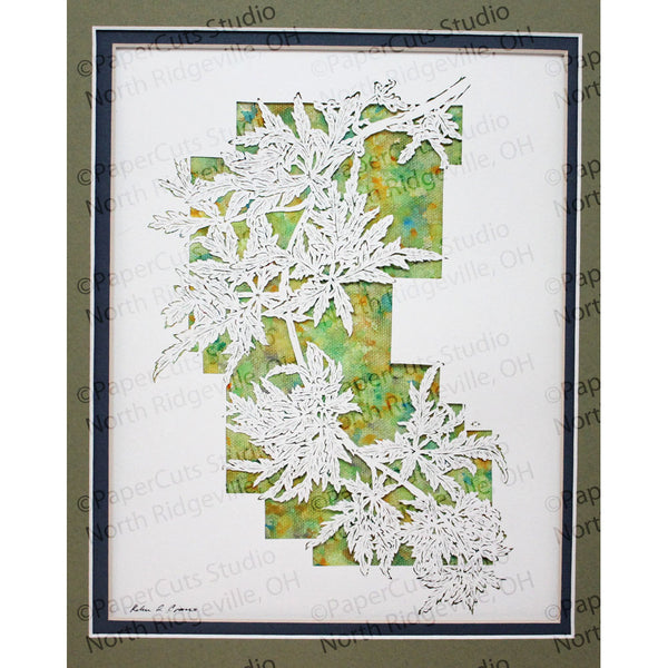 Leaves Cut Paper Art, Matted