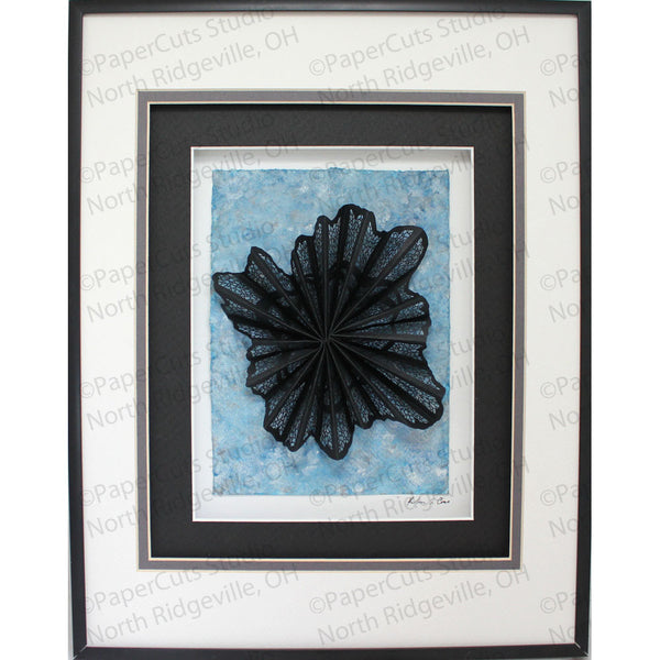 Radiate Cut Paper Sculpture , Framed