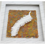 Feather Cut Paper Sculpture , Framed