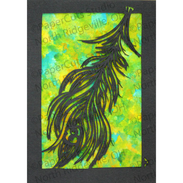 Feather Cut Paper ACEO