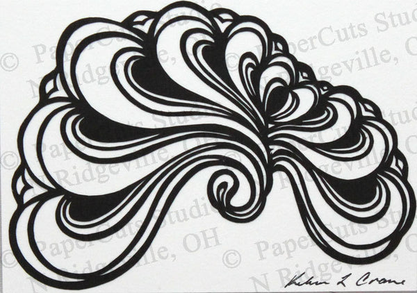 Abstract Cut Paper ACEO