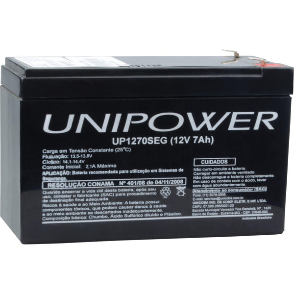 Bateria Selada UP1270SEG 12V/7Ah UNIPOWER