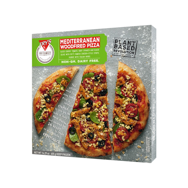 FRYS Pizza Mediterraean (Woodfired) Pizza 405g (Frozen)