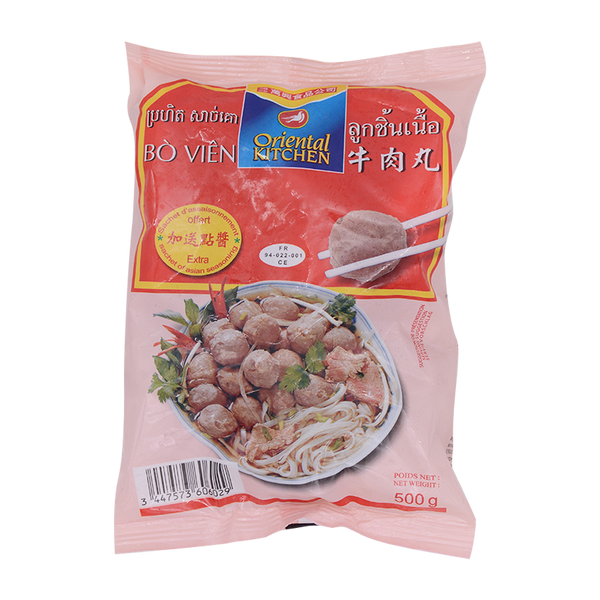 Oriental Kitchen Beef Ball 500g (Frozen) - Longdan Online Supermarket