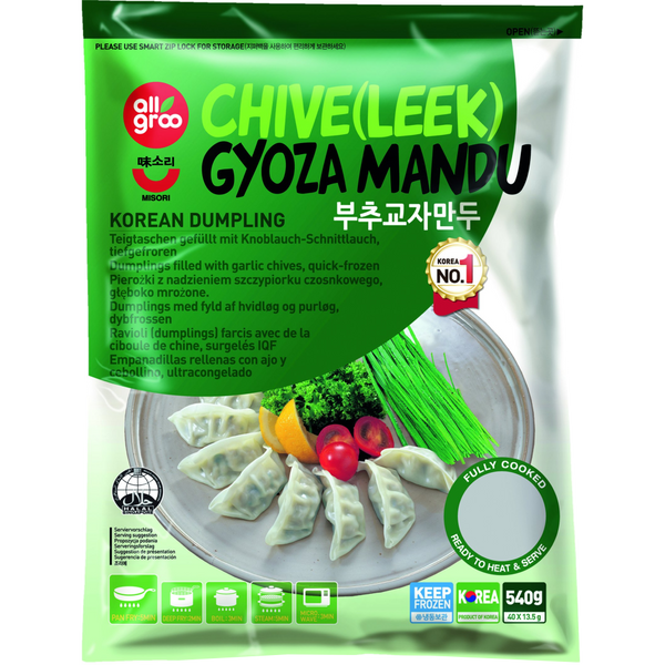 Allgroo Chive Leek Gyoza Mandu 540g - Longdan Offical Online Store - UK Cash & Carry
