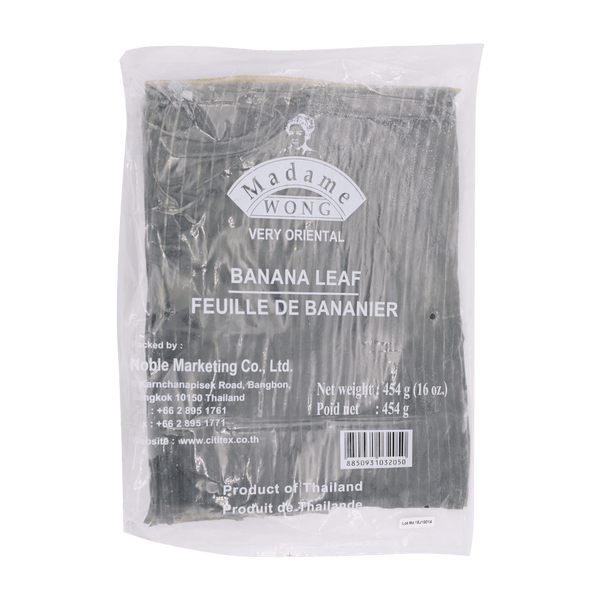 Madame Wong Frozen Thai Banana Leaves 454g - Longdan Offical Online Store - UK Cash & Carry