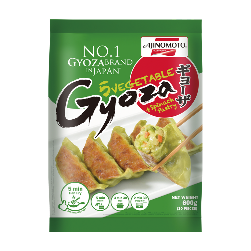 AJINOMOTO 5 Vegetable Gyoza With Spinach Pastry 600g - Longdan Online Supermarket