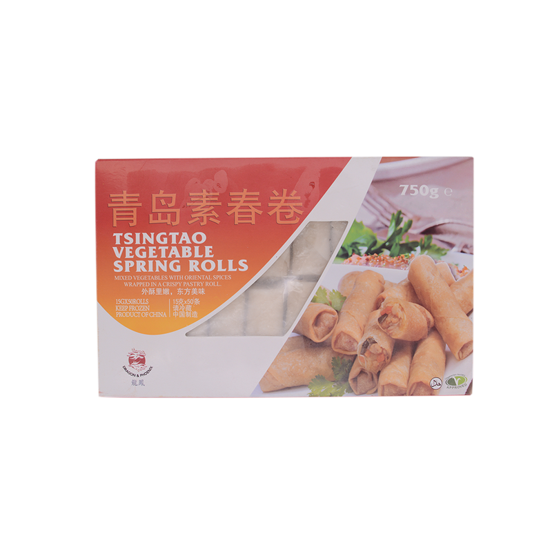 Dragon & Phoenix Tsingtao Vegetable Spring Rolls 750g (Frozen) - Longdan Online Supermarket