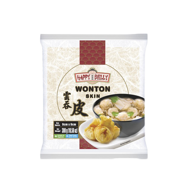 Happy Belly Wonton Skin 90mm 300g (Frozen)