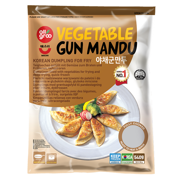 Allgroo Vegetable Gun Mandu (Fried Dumpling) 540g - Longdan Online Supermarket